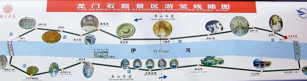 龍門石窟地図